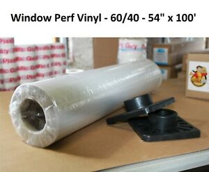 Perforated Window Decal Mounting Adhesive Vinyl One way Vision 54 X 100