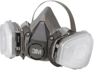 Medium Paint Respirator Half Face Mask Dust Chemical Air Filter Safety Gear N95