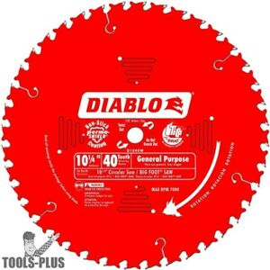 Diablo D1040w 10 1 4 X 40t Atb General Purpose Saw Blade New