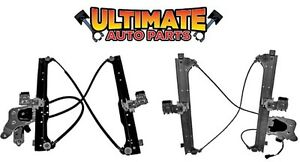 Rear Power Window Regulator Left Right W Motors For 02 06 Chevy Avalanche