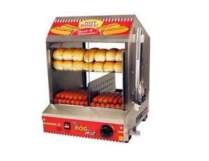 Commercial Hot Dog Steamer Cooker Machine Bun Warmer Concession Stand New