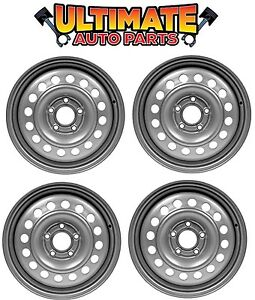 Steel Wheel Rim 15 Inch Wheels Set Of 4 Silver For 10 13 Transit Connect