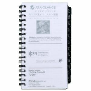 At a glance 2014 Weekly And Monthly Planner Refill For 70 020 3 25 X 6 25