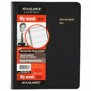 At a glance Weekly Monthly Appointment Book Planner 2016 6 7 8 X 8 3 4