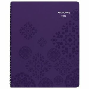 At a glance Weekly Monthly Appointment Book Planner 2017 Premium 8 1 2 X