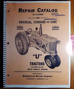 Minneapolis moline U Utu Uts Utc Utn Tractor 334001 Repair Parts Manual R 1056e