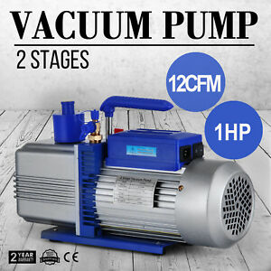 12cfm 2 Stages 1hp Electric Hvac Air Conditioning Refrigeration Vacuum Pump