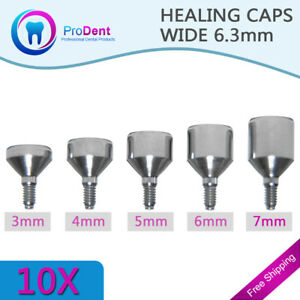10 Healing Caps D 6 3mm Wide Platform For Dental Implant free Shipping