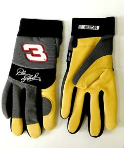 6 Pairs Nascar Dale Earnhardt 3 Deerskin Leather Work Driving Gloves Small