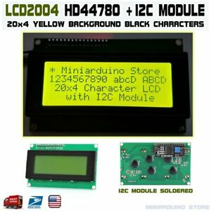 Lcd 2004 Yellow Serial Iic I2c Twi 20x4 Character Module Display Screen Arduino