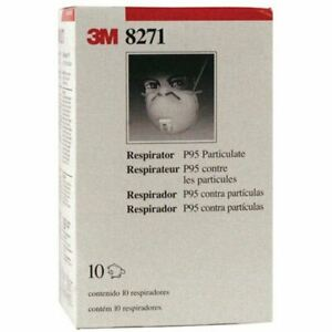 3m 8271 P95 Particulate Respirators W Face Seal Cool Flow Valve 10 pack