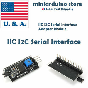 Iic I2c Serial Interface Adapter Module For Lcd Display 1602 2004 Arduino