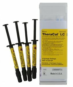 Bisco Theracal Lc Resin Modified Cacium Silicate Pulp 1 X 4 Syringes Exp 09 2019