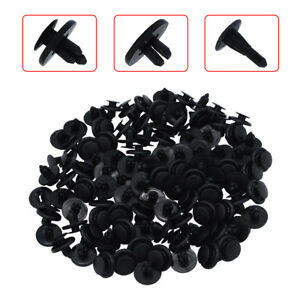 7mm 100x Bumper Hood Fender Splash Guard Retainer Clips For Toyota Camry Corolla