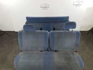 1994 Ford Pickup F150 Front Rear Cloth Bench Seats Blue Gv