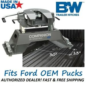 Rvk3300 B w Companion 5th Wheel Rv Trailer Hitch For 2012 2019 Ford Oem Pucks