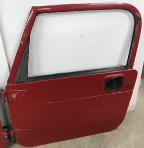 Jeep Wrangler Tj Full Steel Doors 97 06 Glass Roll Up Windows Red