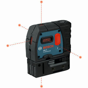 Bosch Tools Gpl5 rt 5 point Class Ii 1mw Self leveling Alignment Laser