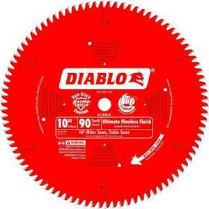 Diablo D1090x 10 x90t Ultimate Flawless Finish Circ Saw Blade New