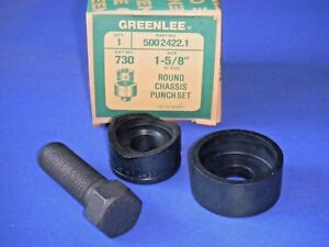 Greenlee 730 Round Radio Chassis Knockout Punch 1 5 8 500 2422 1 3 Pc Nos