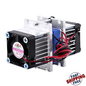 Diy 144w Dual chip Thermoelectric Peltier Refrigeration Tec1 12706 Cooler With