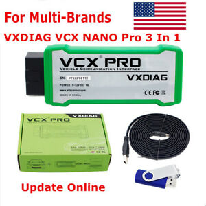 Vxdiag Vcx Nano Pro Obd2 Diagnostic Tool For Ford Mazda Vw 3in1 Multi Languages
