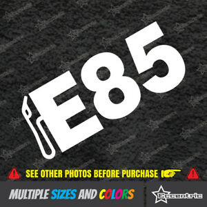 E85 Sticker Window Decal Jdm Gt Racing Car Drift Fatlace Illest Turbo Fuel