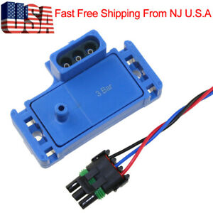 3bar Turbo Boost Pressure Map Sensor For Detroit Diesel Series 12219935 W Plug