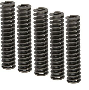Compression Spring Chrome Silicon Steel Alloy 1 25 od 176lbs Load Pack Of 5