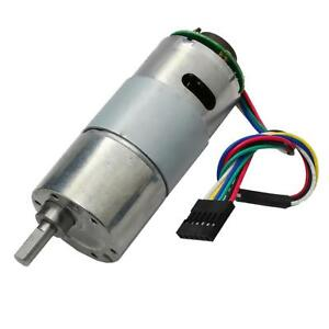 Dc12v 70rpm Encoder Disk Speed Reduction Gear Motor With Encoder Speed