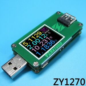 Colour Tft Dual Usb Qc 3 0 Power Monitor Yzxstudio Zy1270 Voltage Current Tester