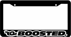 Boosted Turbo Boost Jdm Jdm License Plate Frame