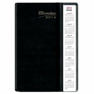 Rediform Brownline 2014 Pre vu Monthly Planner Twin wire Black 11 X 8 5
