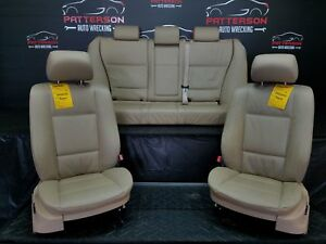 2004 Bmw X5 Set Of Left Right Front Rear Leather Seats beige tan Hc
