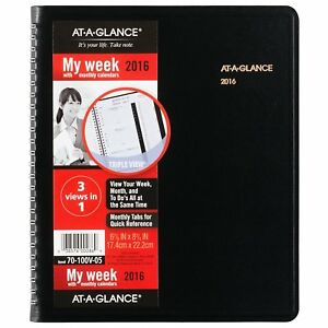 At a glance Weekly Monthly Appointment Book Planner 2016 Triple View 6 7 8