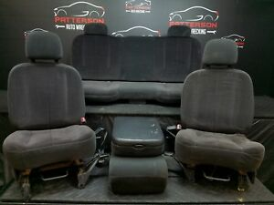 2005 Dodge Ram Pickup 1500 Set Front Rear Cloth Seat Slate Gray Trim Code Dv