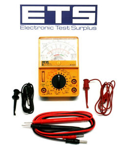 Ideal Industries 61 614 Analog Multi meter With Test Leads Hook Clips