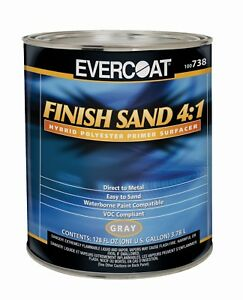 Evercoat Finish Sand 4 1 Polyester Primer Gray Gallon Made In Usa 738