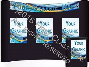 Abex Display 10ft Trade Show Pop Up Display W graphics Case Usa New Lot