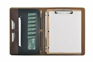 Smart 3 Ring Binder Portfolio Case With Clipboard For Organizing Loose Black