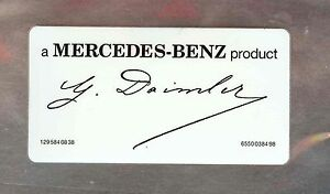 Daimler Signed Windshield Decal Sticker A Mercedes Benz Product