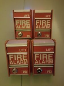 Four Fci Ms 2 Fire Alarm Pull Station
