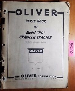 Oliver Hg Crawler Tractor Sn Iga000 Parts Book Catalog Manual S6 clp 100 f 7 50
