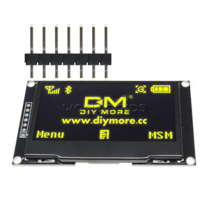 2 42 Yellow 128x64 Oled Lcd Display 12864 I2c Spi Serial Module For Arduino