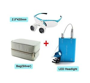 Zinnor 2 5x420mm Dental Surgical Medical Binocular Loupes Optical Glass Loupe