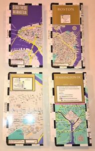 Filofax Personal Size Set Of 4 Streetwise Laminated Fold out City Maps
