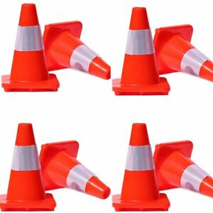 Lot 8 12 18 28 Reflective Wide Body Safety Cones Construction Traffic Spoub