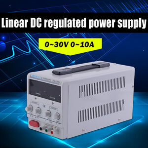 30v 10a 110v regulated Dc Power Supply Adjustable dual Led Dual Digital Usa Ek