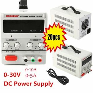 Lot 20x 30v 5 10a Dc Power Supply Precision Variable Adjustable Dual Digital Eo