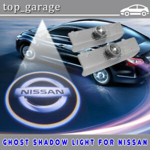 2x Led Door Welcome Laser Projector Logo Courtesy Ghost Shadow Light For Nissan